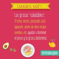 """#sabíasque ¿hay grasas """"buenas""""? #alimentación #salud"""