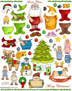Santa Claus Magnet Sheet