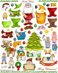 Santa Claus Magnet Sheet