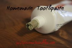 Homemade Toothpaste (In A Tube!)        1/4 C Bentonite Clay      1T Baking Soda      6 T hot water      5 drops tea tree oil      15 drops peppermint oil (or your essential oil of choice)      Pinch of Xylitol (to taste)