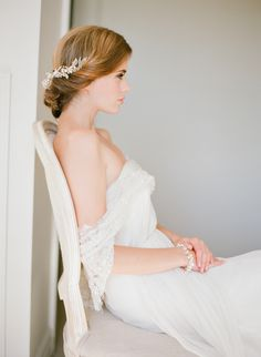 WILD WILLOWS | Gold Leaf Bridal Headpiece