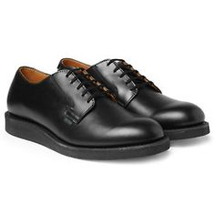 """Red Wing Shoes Rubber-Soled Leather Derby Shoes / """"The postman"""""""