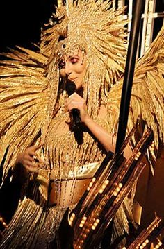 Cher in an awesome Bob Mackie costume!
