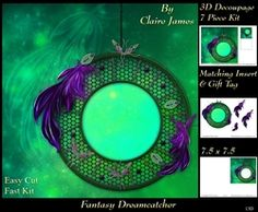 Fantasy Dreamcatcher 13   Pyrimage Pyramid   Matching Insert   Tag on Craftsuprint - View Now!