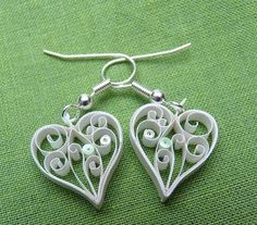 simple earring pattern | Quilled Paper Earring Patterns and Designs