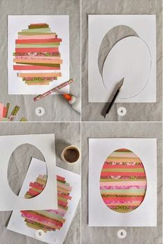 Great Easter Eggs template at Minted so the kids can make actual frame-worthy art. #artprojects