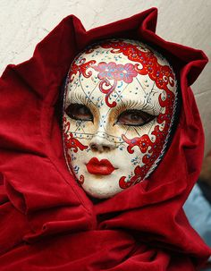Very cool mask in red at the 2010 Carnevale in Venice by Alaskan Dude