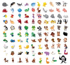 13 Free Packs of Animal Vector Graphics: Cute Cartoon Characters ...