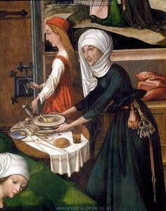 Geburt Mariens;Begegnung an der goldenen Pforte 1493 (Ausschnitt)