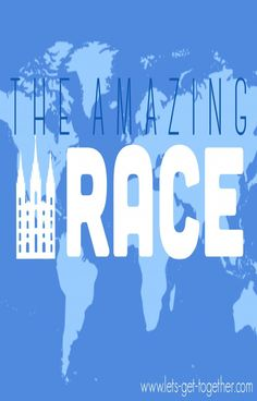 The Amazing Race Temple Edition - awesome youth activity or Family Home Evening! Includes printables and instructions for everything you need! (part of a Girls Camp series!) #girlscamp #embark #lds #fhe