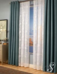More Grommet Curtains Layered On Sheers W/different Heading