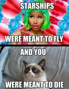 Grumpy Cat hates Nicki Minaj