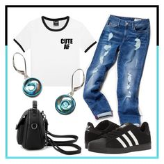 """""""CUTE AF"""" by avagoldworks ❤ liked on Polyvore featuring Tommy Hilfiger, adidas and avagoldworks"""