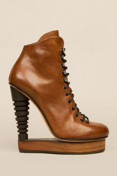 11/14/11 lace-up skate bootie by Alain Quilici. Happy Birthday Rev Run & Josh Duhamel!