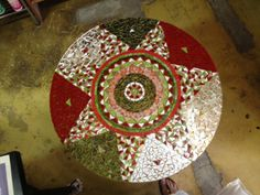 "Mosaic table tutored by Craft at Fourway ""One of a Kind"""