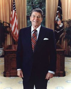 Official Portrait of President Ronald Reagan. - Rex Features