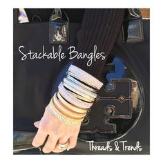 Bountiful Bangle Set Multi madness stackable bangles. Silver or gold. Each set contains 7 bangles. Thicker bangles seen in cover shot are sold separately. Bundle and save. Threads & Trends Jewelry Bracelets