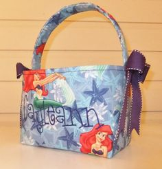 Disney's Ariel Fabric Easter Basket by MsSewItAll32 on Etsy, $18.00