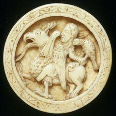 Backgammon piece, walrus ivory, Germany (Cologne), 1150-75