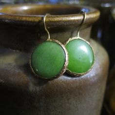 Boucles d'oreilles vertes by HurremSultanJewelry on Etsy