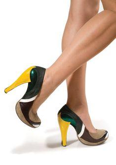 Mallard Duck High Heels.? Yes Please :)