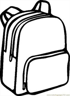 92 best school supplies coloring pages for kids - updated 2018 School Coloring Pages, Coloring Pages For Kids, Coloring Sheets, Coloring Books, Black And White Google, Clipart Black And White, School Bags For Kids, School Fun, Back To School Crafts