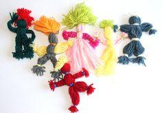 vrolijke poppetjes van wol