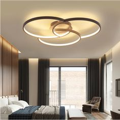 Buy Creative Styled Infinitely Dimmable Ceiling Lamp, sale ends soon. Be inspired: discover affordable quality shopping on Gearbest Mobile! Ceiling Design Living Room, Bedroom False Ceiling Design, Ceiling Light Design, Living Room Designs, Modern Ceiling Design, Fall Ceiling Designs Bedroom, House Ceiling Design, Modern Led Ceiling Lights, Living Room Lighting Ceiling