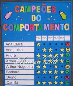 Painel Campeões do Comportamento Preschool Math, Kindergarten, English Activities, Class Management, Kids Church, Leiden, Kids Education, Teaching English, School Projects