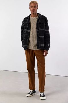 Indie Fashion Men, Stylish Mens Fashion, Stylish Mens Outfits, Casual Outfits, Men Casual, Mens Outdoor Clothing, Outdoor Outfit, Mens Corduroy Pants, Urban Outfitters