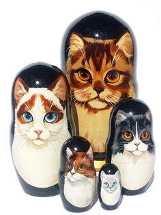Cat Matryoshka set