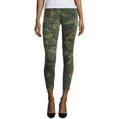 Faith Connexion Camo Running Pants (2.518.630 IDR) ❤ liked on Polyvore featuring pants, capris, contemporary sp - workshop, camouflage trousers, rear zip pants, tailored trousers, cropped capri pants and back zip pants