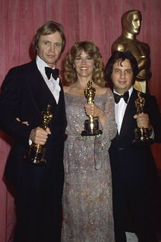 "Jon Voight and Jane Fonda - 1978 Best Actor & Best Actress // ""Coming Home"", and Michael Cimino - Best Director // ""The Deer Hunter"""