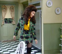 Quirky Fashion, 90s Fashion, Runway Fashion, Vintage Fashion, Fran Fine The Nanny, Miss Fine, Fran Fine Outfits, Nanny Outfit, Frilly Shirt