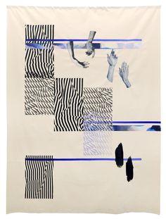 "artistfaynicolson:  "" UN MAKE ME (senseless), Screen print and acrylic on canvas, 2016  """