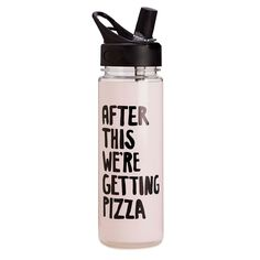 work it out water bottle - after this we're getting pizza #adroll #spring16 #waterbottle