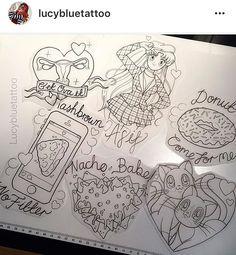 Lucy blue tattoo food puns