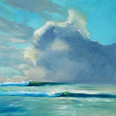 Big Sky Painting by Artist Wade Koniakowksy #waves #clouds