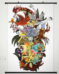 Home Decor Anime Pocket Monster Pokémon Poster wall Scroll 23.6 X 35.4 Inches -006