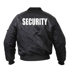 Extra Off Coupon So Cheap Security Bomber Jacket Flight Law Enforcement Coat Black Rothco Vest Jacket, Bomber Jacket, Law Enforcement, Motorcycle Jacket, Casual Outfits, Stylish, Coat, Large Letters, Clothing