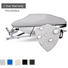 Buy Seamander Trailerable Runabout Boat Cover Fit V-Hull Tri-Hull Fishing Ski Pro-Style Bass Boats, Full Size online - showmehits Hull Boat, Folding Boat, Long Term Storage, Runabout Boat, Shelter Tent, Baby Canopy, Best Boats, Boat Covers, Black Leather Watch
