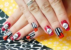 unhas decoradas juliana leite nail art mickey disney divertida 012 | por dooobb