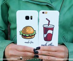 Made for each other... bekijk onze desing hoesjes. Meer dan 100 verschillende designs voor alle apple en diverse samsung telefoons. www.ontwerp-zelf.nl