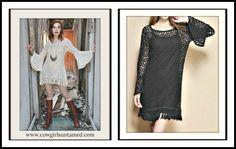 TOP SELLER!! COWGIRL GYPSY DRESS Crochet Lace N Fringe Bell Sleeve Boho Mini Dress/ Tunic Top  #FREEPEOPLE #bohemian #hippie #boho #gypsy #cowgirl #dress #minidress #top #tunictop #boutique #fashion #style #beautiful #lace #crochet #bellsleeve #fringe #wholesale #cowgirlsuntamed