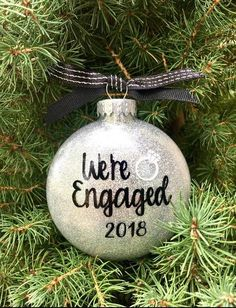 Engagement Ornament, Engagement Chirstmas Ornament, Engaged Christmas Ornament, Engagement Gift, Eng