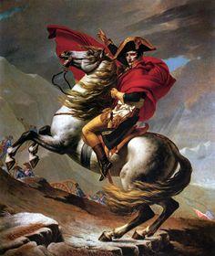 Napoleón cruzando los Alpes, versión Belvedere (existen cinco copias), Jacques Louis David, Palacio Belvedere, Viena (Austria), 1810.