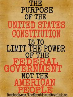 That was what Our Founding Fathers wanted,TO LIMIT GOVERNMENT!