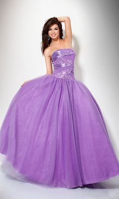 Ball Gown Floor-length Tulle Strapless Beading Cheap Prom Dress - Special Occasion Dresses By AndyBridal Wedding Dresses Prom Dresses For Sale, Homecoming Dresses, Bridesmaid Dresses, Formal Dresses, Dress Prom, Dress Long, Long Dresses, Lavender Bridesmaid, Lavender Dresses