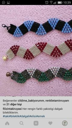 Wave Pattern Snake Look WovenThis post was discovered by GöBracelets necklaces and earrings make yourself discussion on liveinternet russian service online diary salvabrani – ArtofitBeadcrochet- another way of st - SalvabraniHow to Make Crackle Be Diy Jewelry, Beaded Jewelry, Jewelry Making, Beaded Bracelets, Beading Projects, Crochet Projects, Free Beading Tutorials, Jewelry Patterns, Bracelet Patterns