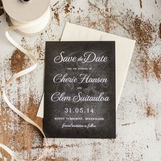 Rustic wedding Save the Date  Chalkboard by starboardpress on Etsy, $2.90